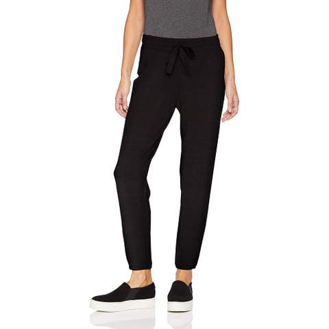 Daily Ritual Women's Supersoft Terry Rib Jogger, Black, Medium