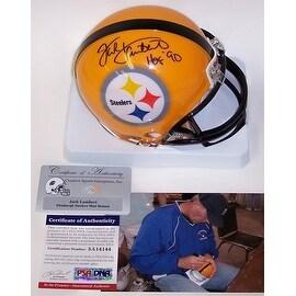 Jack Lambert Autographed Hand Signed Steelers Mini Helmet - PSA/DNA