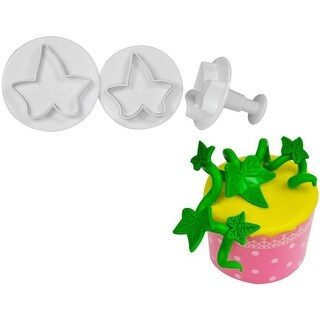 Ny Cake Plunger Cutters W/Veiners 3/Pkg-Ivy Leaf