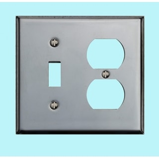 Switchplate Chrome Single Toggle/Outlet