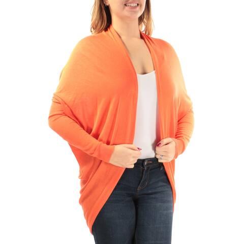 Ralph Lauren Womens Orange Long Sleeve Open Sweater Size: L