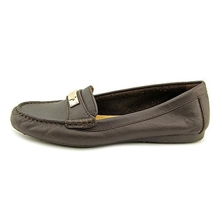 Coach Women¡¯s Fredrica Pebble Grain Leather Loafer Flats
