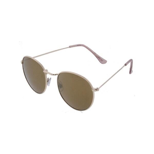 Shop Kathy Ireland Womens Round Sunglasses Mirror Fashion - Gold - o ... 7e9916d2c9