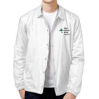 LRG NEW White Mens Size 2XL Snap Front Windbreaker Collared Jacket