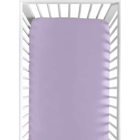 Sweet Jojo Designs Lavender Fitted Crib Sheet