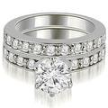1.70 cttw. 14K White Gold Round Cut Diamond Engagement Matching Set - Thumbnail 0