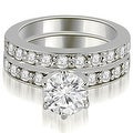 1.95 cttw. 14K White Gold Round Cut Diamond Engagement Matching Set - Thumbnail 0