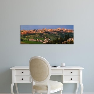 Easy Art Prints Panoramic Images's 'High angle view of a cityscape, Orvieto, Umbria, Italy' Premium Canvas Art