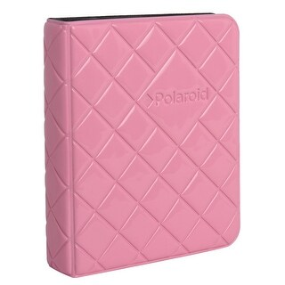 Polaroid 64-Pocket Photo Album w/ Sleek Quilted Cover for Zink 2x3 Photo Paper (Snap, Zip, Z2300) - Pink