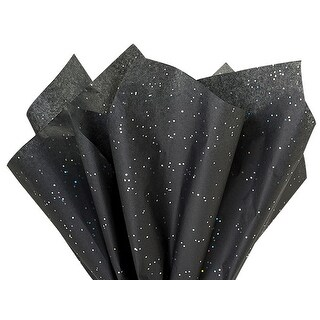 "Pack Of 200, Solid Black Onyx Gemstone Tissue Paper 20"" x 30"" Sheets For Special Occasion Packaging"