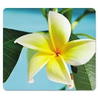Fellowes Mousepad, Recycled Optical, Yellow Flower