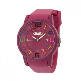 Crayo Festival Unisex Quartz Watch, Silicone Strap, Luminous Hands