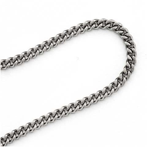 Stainless Steel 2.9mm Curb Chain 24 Inch Necklace Endless No Clasp
