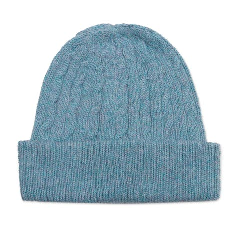 NOVICA Comfy in Blue Wool knit hat