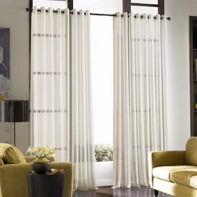 Solid Soho Sheer Grommet Single Curtain Panel
