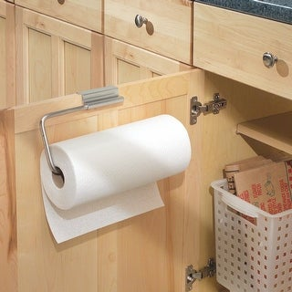 InterDesign 29750 Over The Cabinet Paper Towel Holder, Stainless Steel