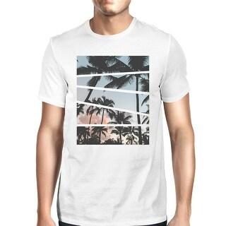 Palm Trees California Sunset Photography Mens Short Sleeve T-Shirt