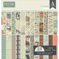 "Authentique Double-Sided Cardstock Pad 12""X12"" 24/Pkg-Pastime, 12 Designs/2 Each"