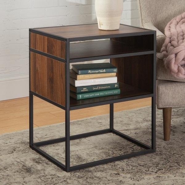 Carbon Loft Geller Side Table with Open Shelf. Opens flyout.