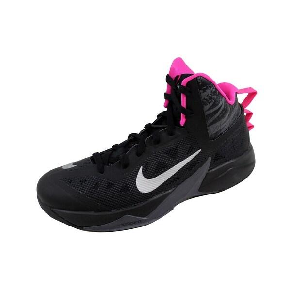 Nike Men's Zoom Hyperfuse 2013 Black/Metallic Silver-Dark Grey-Pink 615896-002
