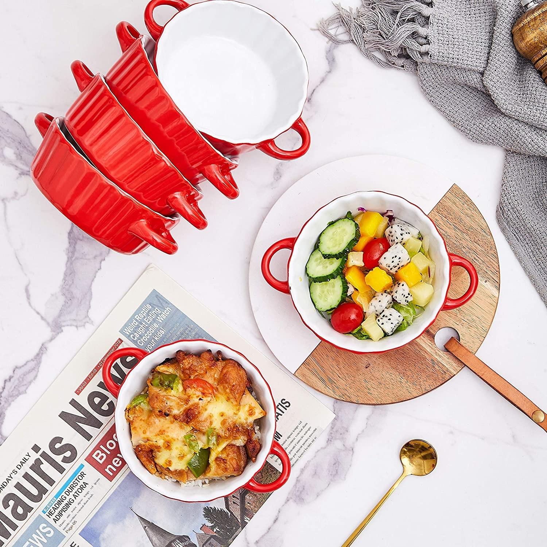 Jamie Oliver Ramekins 4er Set Stoneware Oven Safe Dips Finger Food Bowls