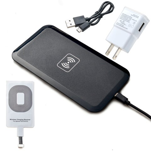 Qi Wireless Charger Charging Pad Receiver Kit For iPhone  Black
