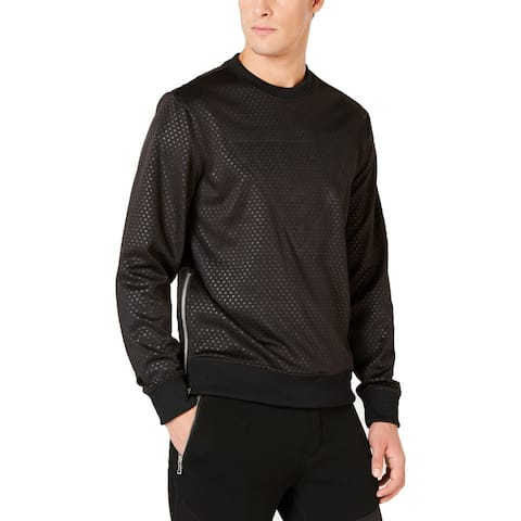 Guess Mens Sweatshirt Textured Logo