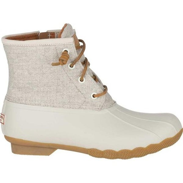 Saltwater Duck Boot Off White Wool