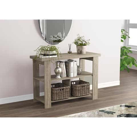 Console Table 41.25L Dark Taupe 3 Shelves - 41'5 x 15'5' x 29' - 41'5 x 15'5' x 29'