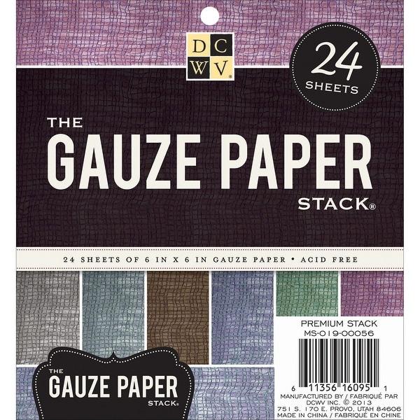 "DCWV Specialty Stack 6""X6"" 24/Pkg-Gauze, 6 Colors/4 Each"