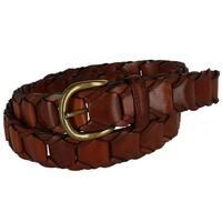 Toneka Men's Leather Link Belt