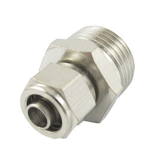 Unique Bargains 5.5mm Diameter Tube 20.5mm Male Thread Quick Fittings Connector Adapter