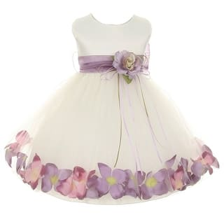 Kids Dream Baby Girl Ivory Lavender Satin Petal Floating Flower Girl Dress 6-24M|https://ak1.ostkcdn.com/images/products/is/images/direct/76af13ce97e7826161a0bfa091af82eba62e6beb/Kids-Dream-Baby-Girl-Ivory-Lavender-Satin-Petal-Floating-Sash-Flower-Girl-Dress-6-24M.jpg?impolicy=medium