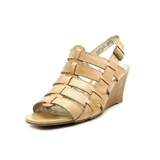 White Mountain Corkscrew Open Toe Leather Wedge Sandal