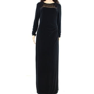 Lauren Ralph Lauren Women Beaded Gathered Maxi Dress
