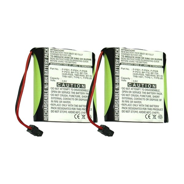 Replacement For Panasonic PQWBTC1461M Cordless Phone Battery (700mAh, 3.6v, NiMH) - 2 Pack
