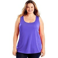 Just My Size 90563231652 Scoop-Neck Womens Tank Top - H3 3X