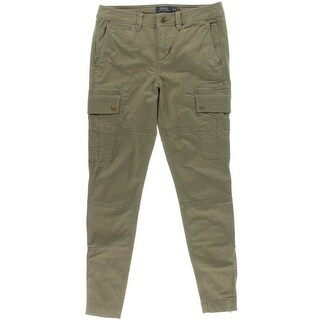 Polo Ralph Lauren Womens Cargo Pants Skinny Ankle Zip