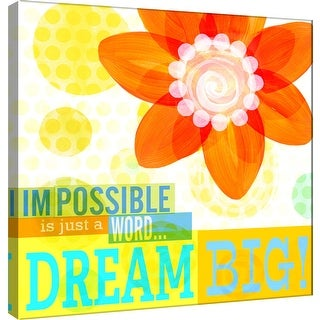 "PTM Images 9-100985  PTM Canvas Collection 12"" x 12"" - ""Dream Every Day - Dream Big"" Giclee Flowers Art Print on Canvas"