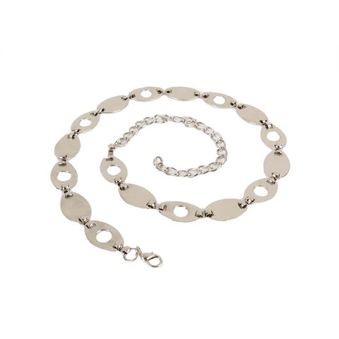 Style & Co. Women's Oval Linked Metal Chain Belt - Nickel