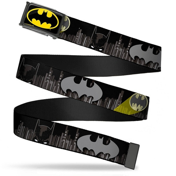 Batman Fcg Black Yellow Chrome Batman Face Bat Signal Gotham City Web Belt