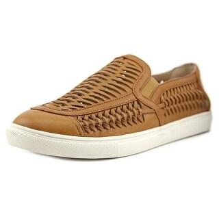 J/Slides Cut Up Women Leather Tan Fashion Sneakers