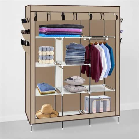 Portable Closet Storage Organizer Clothes Non-woven Fabric Wardrobe