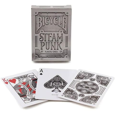 Bicycle Silver Steampunk Playing Cards - Multi