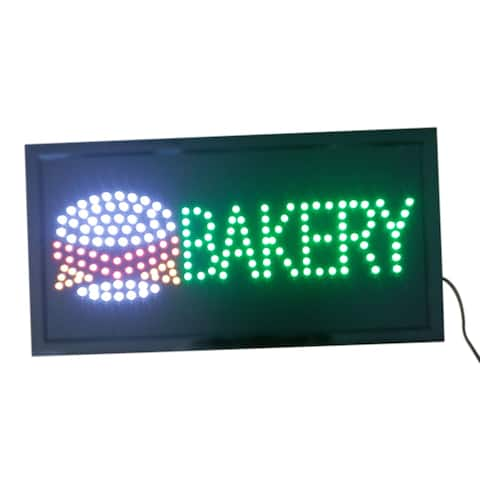Bakery Neon Lights LED Animated Customers Attractive Sign - Blue