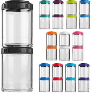 Blender Bottle GoStak 150cc 2Pak Twist n' Lock Storage Jars (Option: White - Food Storage)