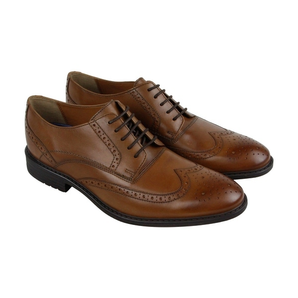 Bostonian Garvan Edge Mens Brown Leather Casual Dress Lace Up Oxfords Shoes