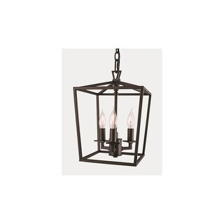 """Norwell Lighting 1084-NG Cage 3 Light 8-1/2"""" Wide Chandelier"""