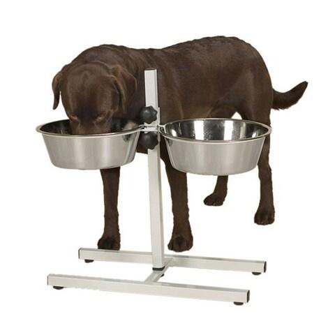 Adjustable Diner with Bowls 160oz Black