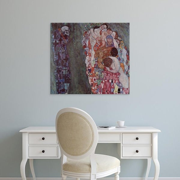 Easy Art Prints Gustav Klimt's 'Life and Death' Premium Canvas Art